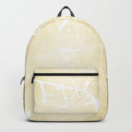 Amsterdam Gold on White Street Map Backpack
