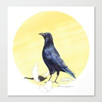 crow Canvas Prints featuring Crow by ankastan