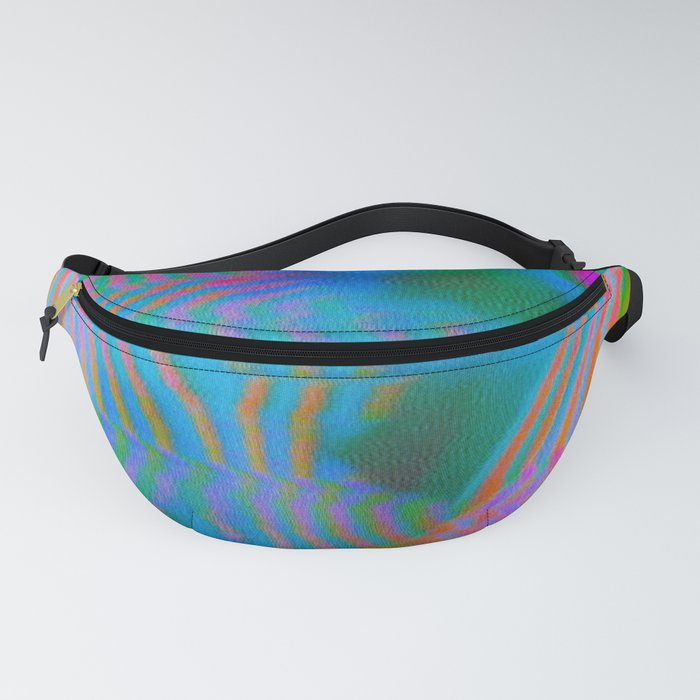 Analogue Glitch Electric Gradient Waves Fanny Pack