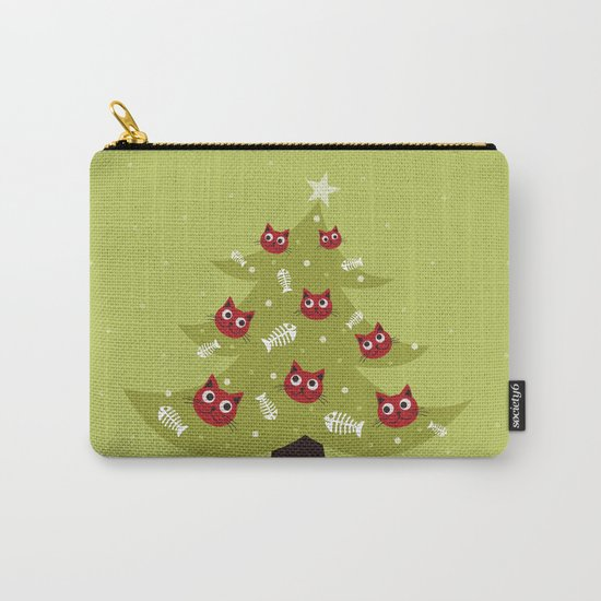 Cat Christmas Tree Carry-All Pouch