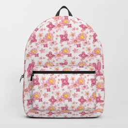 Floral Wind White Snow Backpack