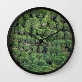 Young pine forest 6809 Wall Clock