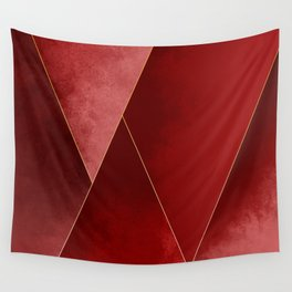 Crimson Tones Wall Tapestry