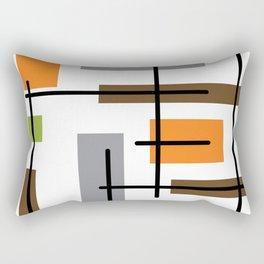 Mid Century Modern Cubicle Art Rectangular Pillow