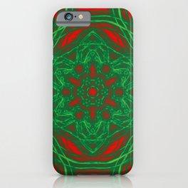 Kaleidoscopes of Christmas stars iPhone Case