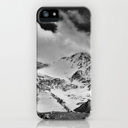 """""""Wild mountains"""". Wilderness. Into the storm iPhone Case"""