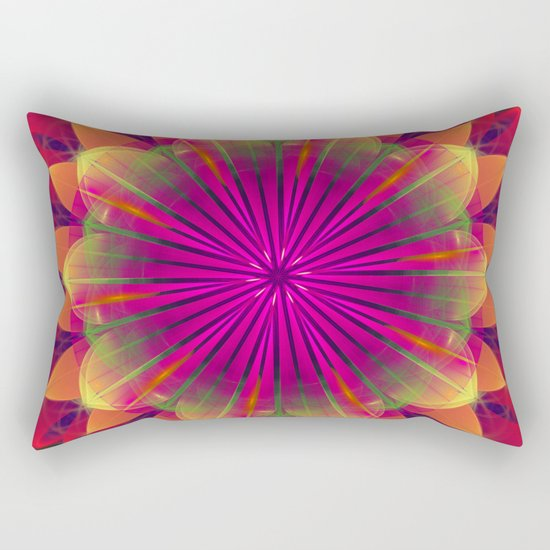 Magical colourful fantasy flower Rectangular Pillow