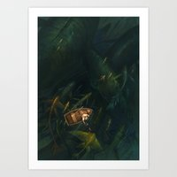 fishing Art Prints featuring Fishing by sandara