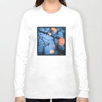 fireflies Long Sleeve T-shirts featuring Fireflies by Den Brooks