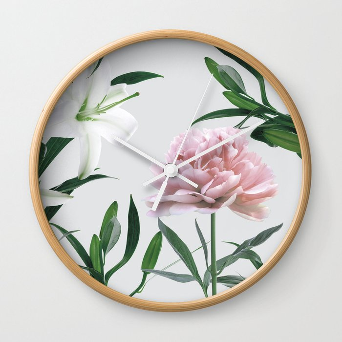 Vintage Botanical Wall Clock