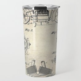 1943 Paper Indian Motor Company Drive Shaft for Motorcycles Patent Travel Mug