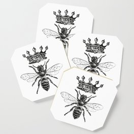Queen Bee | Black and White Coaster