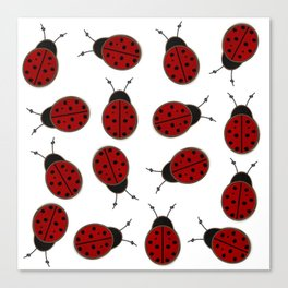 Dotted Ladybird  Canvas Print