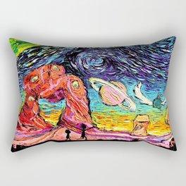 Rick Morty Starry Night Rectangular Pillow