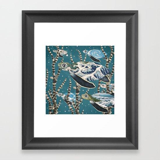 Turtle Migration Framed Art Print
