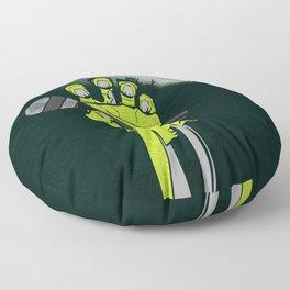 Mic of The Living Dead Floor Pillow