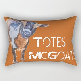 """Totes McGoats!"" ~ Nigerian Dwarf Goat Pop Art Photography!  Gotta Love the Goaty-Woaties! Rectangular Pillow"