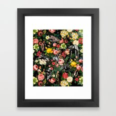 1977-2016 Starwars and Floral Pattern  Framed Art Print