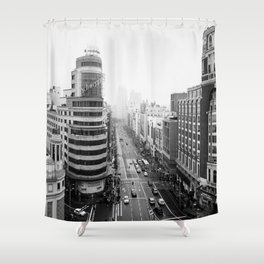 Gran Via in Madrid Shower Curtain