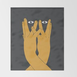 Hands mask Throw Blanket
