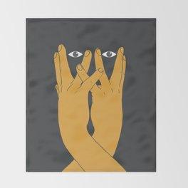 Hands mask Throw Blanket