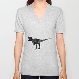 Ceratosaurus Dinosaur Art Black and White Art Gift Prehistoric Art Animals Lovers Art Kids Gifts Unisex V-Neck