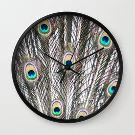 Feathers of the Green Peafowl Wall Clock