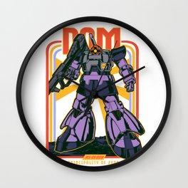 Dom Rick Gundam Retro Wall Clock