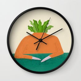 Veg head Wall Clock