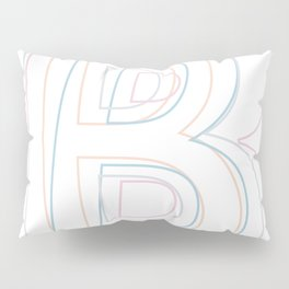 Intertwined Strength and Elegance of the Letter B Pillow Sham
