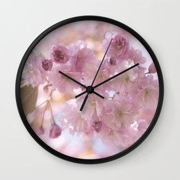 Pink Spring Cherry Blossom Wall Clock