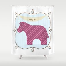 Fun at the Zoo: Zebra Shower Curtain