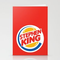 stephen king Stationery Cards featuring Stephen King by Alejo Malia