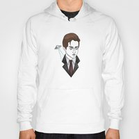 mulder Hoodies featuring spooky mulder by Bunny Miele