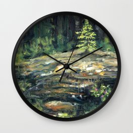 Yamnuska Tree Wall Clock