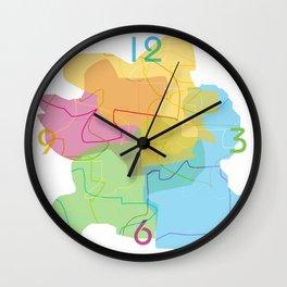 color shadows Wall Clock
