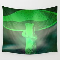 mushroom Wall Tapestries featuring Mushroom by Whirlwind Mind