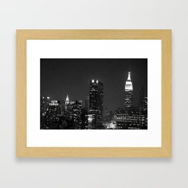 City By Night Framed Art Print