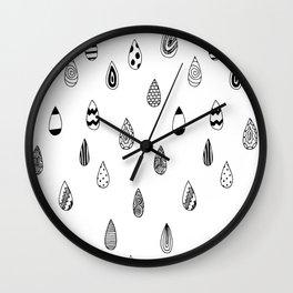 Raindrops of fun Wall Clock