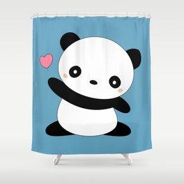 Kawaii Cute Panda Bear Shower Curtain