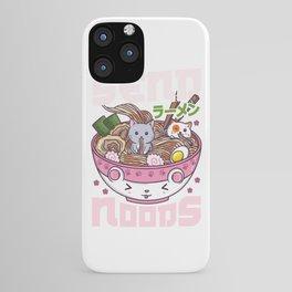 Send Noods - Japanese Neko Ramen Cat T-Shirt iPhone Case