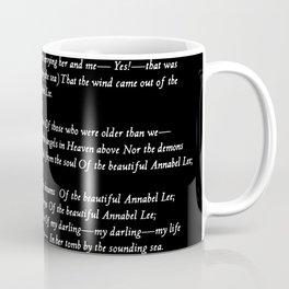 Annabel Lee Edgar Allan Poe black Classic Poem Coffee Mug