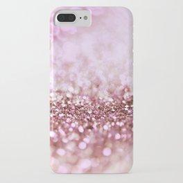 Pink Sparkle shiny glitter effect print - Sparkle Valentine Backdrop iPhone Case