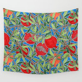 Pomegranate Branches and Fruit Wall Tapestry