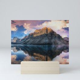 Mountain and Lake Reflection Landscape Mini Art Print