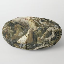 Eugene Delacroix's Liberty Leading the People Floor Pillow