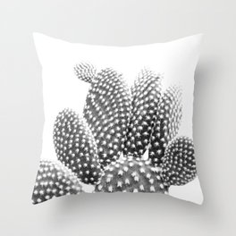 Bunny Ears CactusPhotography B&W Throw Pillow