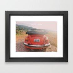 NEVER STOP EXPLORING II - vintage vw bug Framed Art Print