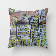 City scape. Throw Pillow