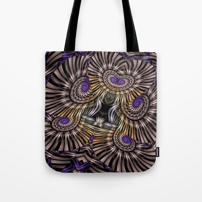 Metallic spirals, shapes and textures. Tote Bag